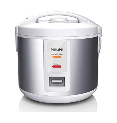 Philips HD3011/08, Warmhalter, Kleine Kapazität, 1 l, 500 W, 900 g Reis, Dünsteinsatz, schwarzes Metall, Farbe Warmhaltefunktion bis zu 12 Std.