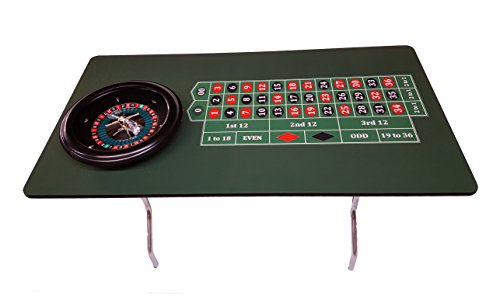 - 60 Inch Profesional Roulette Table & 18 Inch Roulette Wheel - Made in the USA
