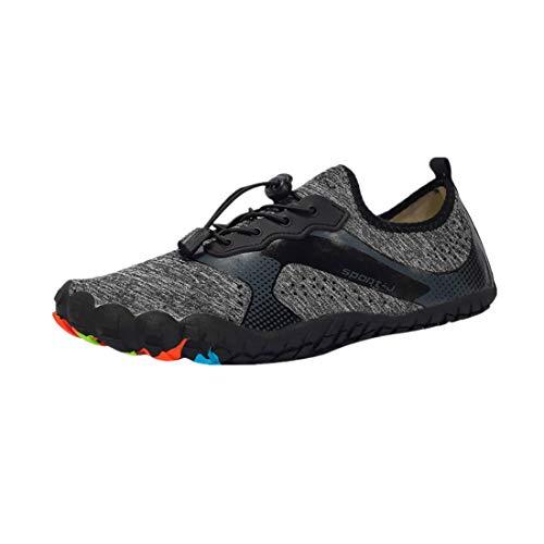 Da Creek Uomo Snorkeling Asciugatura Rapida Accessori Shoes Sub Scarpe Spiaggia Lo Moda Per Grigio Eucoo qtwXBX