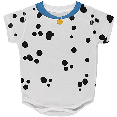Halloween Dog Dalmatian Costume Blue Collar All Over Baby One Piece Multi 24 Month (Baby Dalmatian Costume)