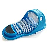 Magic Feet Cleaner,Kissbuty Foot Scrubber Feet Shower Spas Exfoliating Foot Massager Slipper Easy Cleaning Brush (Foot Scrubber)