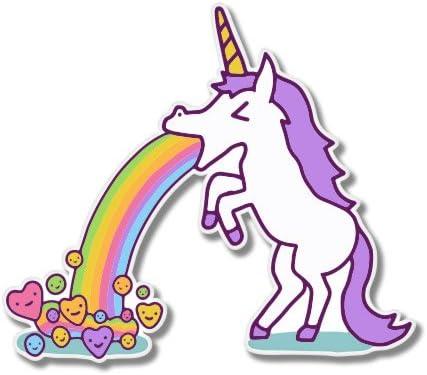 SELECT SIZE Unicorn Cute Rainbow Car Laptop Phone Vinyl Sticker