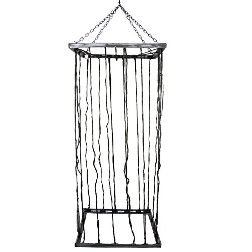 Halloween Haunters Hanging 7 Foot Prison Jail Cell Cage Prisoner Prop Decoration - Scary Bars & Chains
