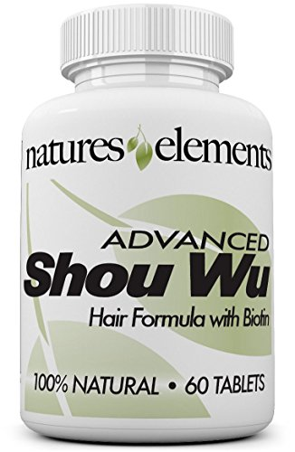 (Advanced Shou Wu for Gray Hair - Prepared Chinese Herb Stimulates Hair Growth - 700mg Tablets - All the Benefits of Original He Shou Wu Plus 10 More Hair Nourishing Herbs)