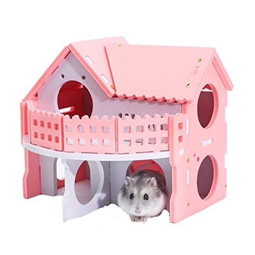 Wooden Hamster House, Rat Hideout, Gerbil Hut Hideaway Exercise Play Toys Chews for Dwarf Hamster,Mouse, Rat,Gerbil and Other Pet Small Animals.
