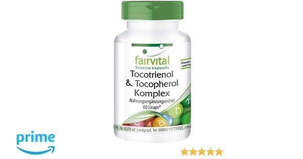 Tocotrienol Complex - Tocoferol - Altamente dosificado - 60 ...