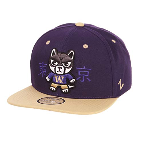 (Zephyr NCAA Washington Huskies Mens Harajukuharajuku Snapback Hat - Tokyodachi Collection, Purple, Adjustable)