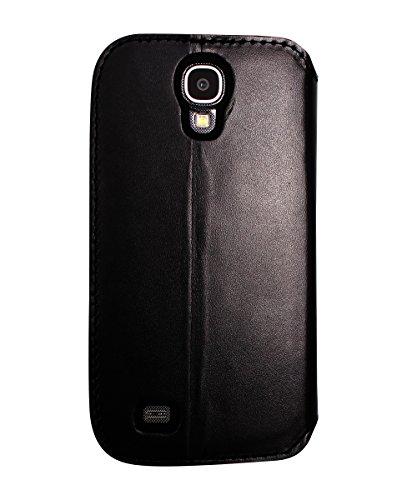 Coque Clapet avec Pochettes CB pour Samsung Galaxy S4, cuir de veau Picadilly Noir