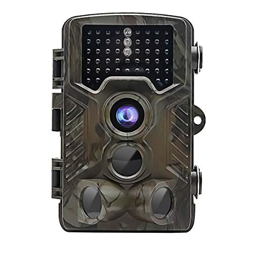 "TOP-MAX Digital Wildlife Trail Camera Hunting Game 1080P 16MP Cam, Motion Activated Scouting Camera Video Camcorder with 120° PIR Sensor/Infrared Night Version/2.4"" TFT Display/IP56 ()"