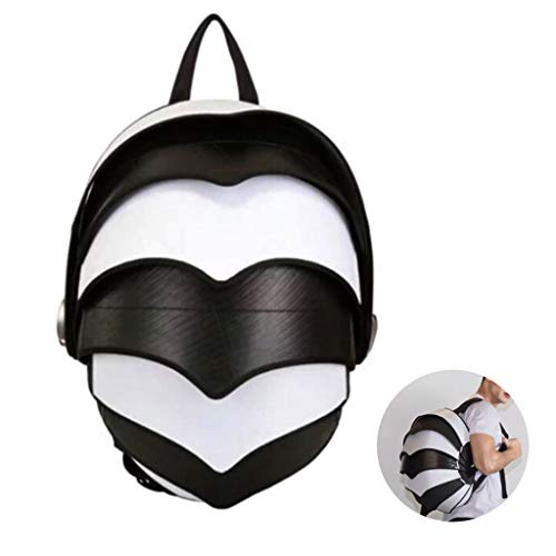 HAOHOAWU Outdoor Motorbike Backpack, Pangolin Tail Bicycle Backpacks Waterproof and Breathable Helmet Bag Suitable for Running Hiking Camping Ultralight Men Women,White,3045cm