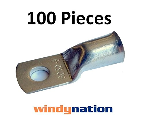 (100) 20 GAUGE AWG X 38 in TINNED COPPER LUG BATTERY CABLE CONNECTOR TERMINAL