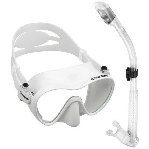 Cressi Scuba Diving Snorkeling Freediving Mask Snorkel Set