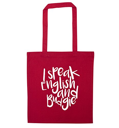 speak and I English and speak I budgie tote Red bag English REqTxU