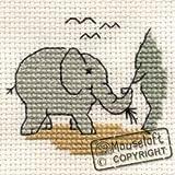 Mouseloft Mini Cross Stitch Kit - Baby Elephant, Stitchlets Collection