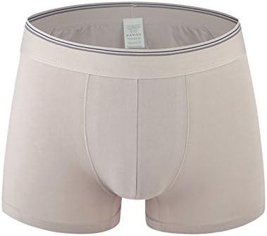 WFLJL Mens Boxers Simple Cotton Flat Angle Cotton Middle 1-Pack