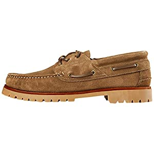 Amazon Brand – find. Chunky Leather Boat Shoe Beige, US 11