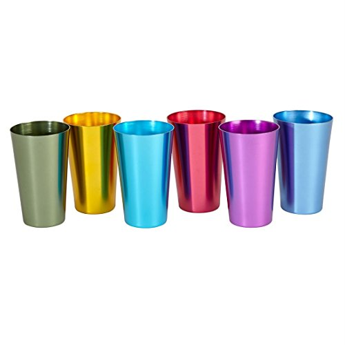 Brylanehome Colorful Retro Tumblers, 6-Pc. Set (Assorted,0)