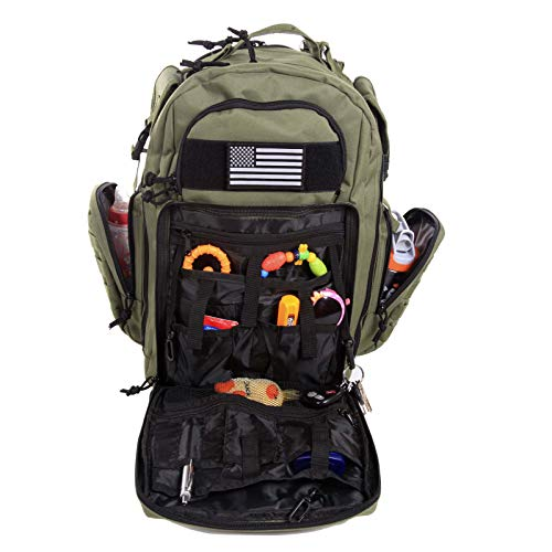 Diaper Bag Backpack by Exodus Gear + Adventure Diaper Bag with Changing Pad + Daddy Diaper Bag for Men and Woman + Hiking Diaper Bag + Dad Diaper Bag + Unisex Diaper Bag + Baby Care (Green) by Exodus Gear (Image #8)