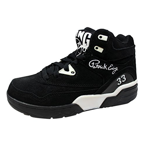 2ef975ac35 Patrick Ewing Mens Guard Black White Suede Trainers 5 US - Buy Online in  Oman.
