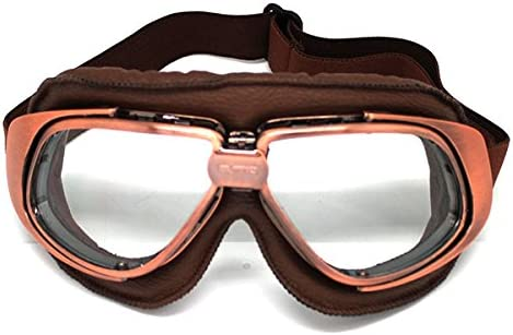 Motorcycle Scooter Mopeds Bike Retro Vintage Aviator Pilot Cruiser Goggles Tint