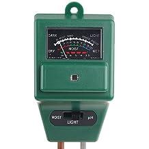 GigaMax(TM)Green 3-in-1 Garden Soil Moisture Tester Light Luxmeter PH Meter