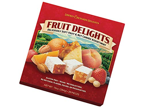 Liberty Orchards Fruit Delights, Soft Fruit & Nut Candies - 10 oz. Gift Box