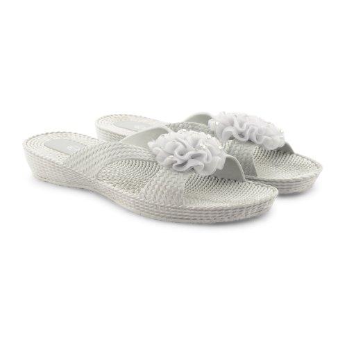 Footwear Sensation - Chanclas para mujer negro negro negro - Silver Open Toe