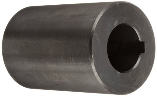Climax Part RC-100-KW Mild Steel, Black Oxide Plating Rigid Coupling, 1 inch bore, 2 inch OD, 3 inch length, 5/16-18 x 1/2 Set Screw