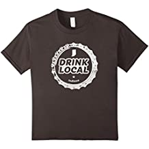 Drink Local Indiana Craft Beer Bottle Cap T-Shirt