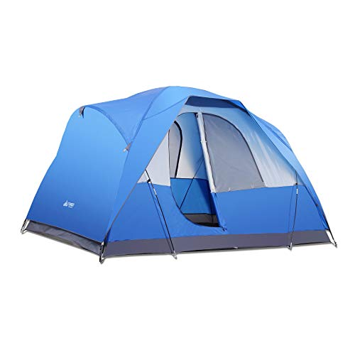 SEMOO Family Camping Tent, Water Resistant Lightweight 5 Person D-Style Door Large Travelling Tent with Carry Bag