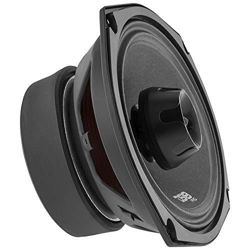 DS18 PRO-ZT69 Speaker - 6x9, 2-Way Pro Audio Midrange with Built-in Bullet Tweeter, 550W Max, 275W RMS, 4 Ohm, Red Metal Mesh Grill Included - Premium Quality Audio Door Speakers (1 Speaker)