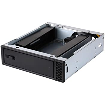 AMS DS-116TL-BLUE 3.5 Tray-less SATA Removable Rack for HDD//SSD Pass-Thru Backplane