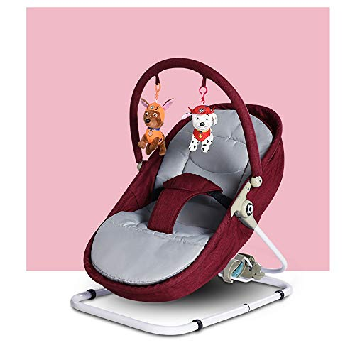 Xiguan Multifunctional Baby Rocking Chair/Cradle 2 in 1, Portable Child Newborn Baby Comforting Vibration Chair, 0-3 Years Old Baby (Color : Red)