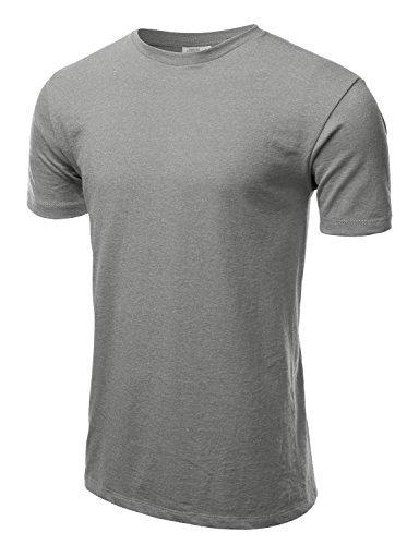 J.TOMSON Men's Poly Cotton Basic Heathered Crew Neck Short Sleeve T-Shirt