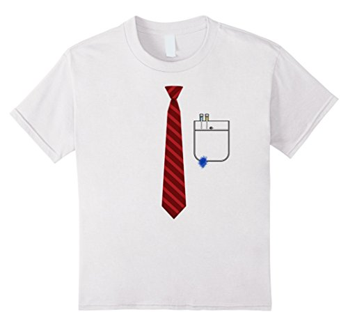 [Kids Nerd Costume T-Shirt Funny Ink Spot 8 White] (Nerd Halloween Costumes For Girls Kids)