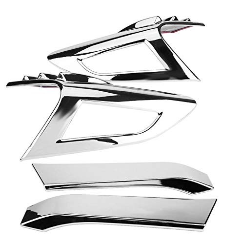 Daphot-Store - 4Pcs Chrome Rear Back Lamp Tail Light Cover Trim Fit for Toyota CHR Auto Replacement Exterior Parts -