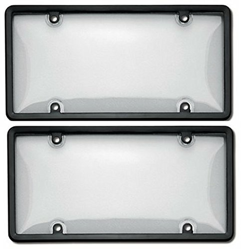Cruiser Accessories 60510 Novelty 2 FRAMES License Plate Combo Bubble Shield and Frame Clear and Black