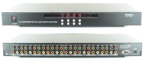 4x4 (4:4) Component Video + Digital Analog Audio Matrix Switch Switcher SB-5644 ()