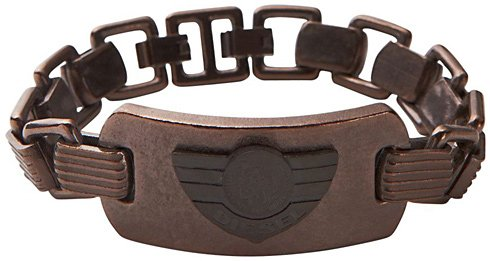 diesel-dx0554-mens-military-logo-brown-and-black-ion-plated-stainless-steel-bracelet