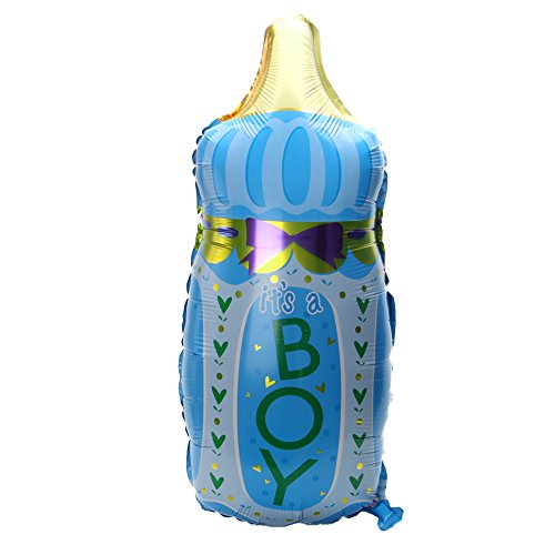Party Balloon,OHTOP 1Pc Bottle Baby Shower Foil Helium Balloons Christening Birthday Party Decoration (Blue) -