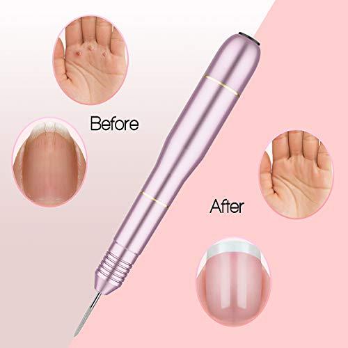 KUMEDA Electric Nail Drill Machine, Professional Pedicure Nail Drill Kit, Portable Acrylic Nail Drill for Sanding… 6