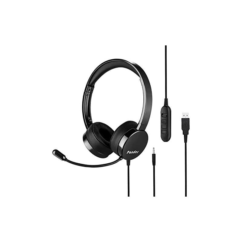 USB Headset Microphone, Pander Noise Can