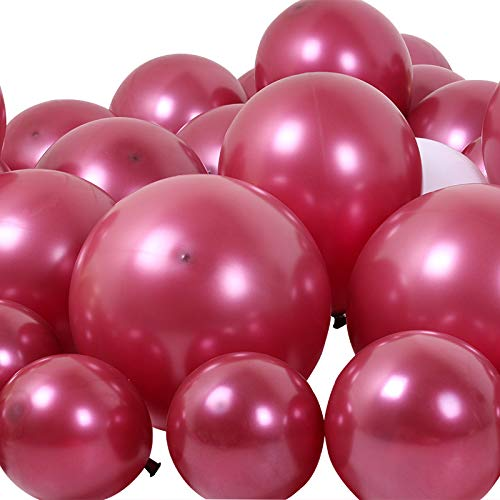 100 pcs 12 Inch Thick 3.2 g Pearl Wine Red Balloons Burgundy Birthday Wedding Decorations Party Ballon Latex Balloons