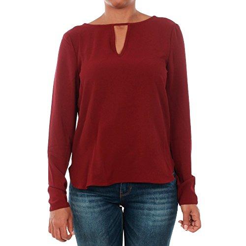 Camiseta Vero Moda Mujer Burdeos 10188103 VMSACHI L/S FRONT KEYHOLE TOP A ZINFANDEL