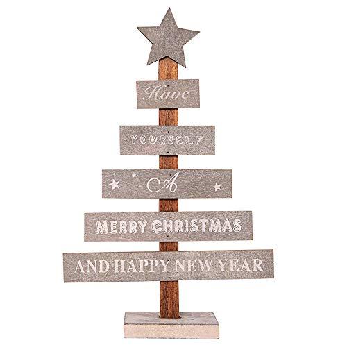 Yellowstone Mini Pendant - Nadition Christmas Decorations  Mini Wooden Merry Christmas Tree Desk Table Decor Pendants Xmas Tree Ornaments Gift