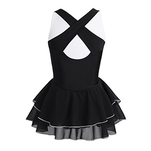 Amazon.com: TiaoBug Kids Girls Criss-Cross Cutout Back ...