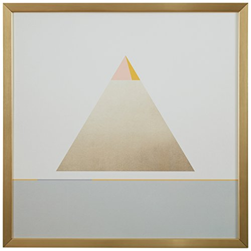 Modern Gold Pyramid Triangle Print, 12