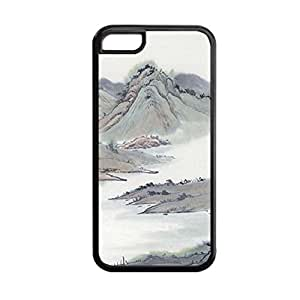 Generic Soft Hipster Back Phone Cover For Kids Custom Design With Asian Chinese Ink Painting For Apple Iphone 5C Choose Design 17