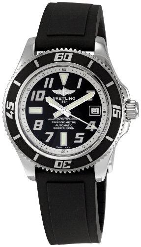 Breitling Men's A1736402/BA29 SuperOcean Black Dial Watch