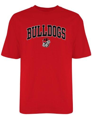 NCAA Georgia Bulldogs Old Varsity/Gildan T-Shirt, Red, Medium